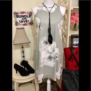 SIMPLY CHIC!! Calvin Klein chiffon swing dress 🤩